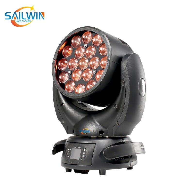 BIG SALE 19x15W ZOOM RGBW 4in1 LED zoom movendo a cabeça de luz em movimento da cabeça nova fase movendo a cabeça luz de lavagem