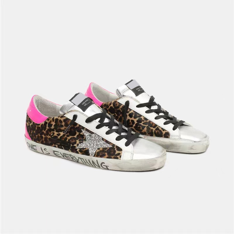 Spring/Autumn  New Children's  Leopard Print Horsehair Retro Dirty Dirty Kid Shoes Sequined Stars Casual Parent-child Shoes QZ22 enlarge