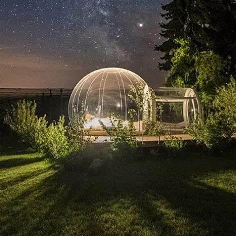 دائم فقاعة شجرة بك خيمة لنفخ الفقاعات في الهواء الطلق التخييم خيمة تشبه بيت الإسكيمو واضح فقاعة قبة البيت فقاعة فندق نفخ خيمة