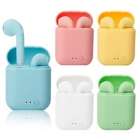 i7 mini 2 tws wireless earphones bluetooth 5 0 earphone matte earbuds charging box wireless headset headphones for xiaomi iphone