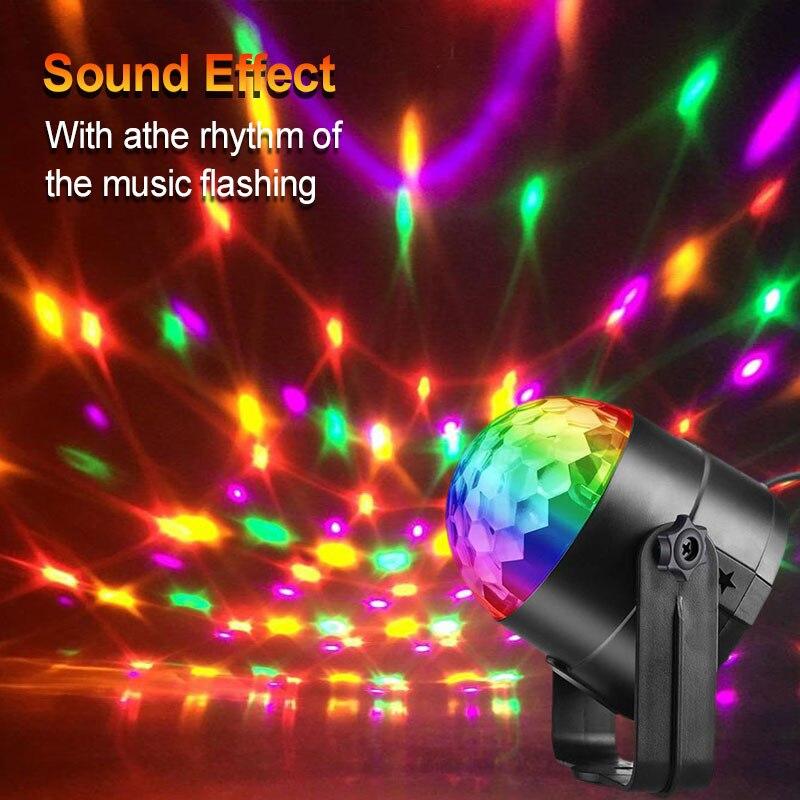 LED Mini Dynamic Sound Control Magic Ball Light KTV Sound Control Magic Ball Light Bar Семья Вечеринка Атмосфера Сцена Свет