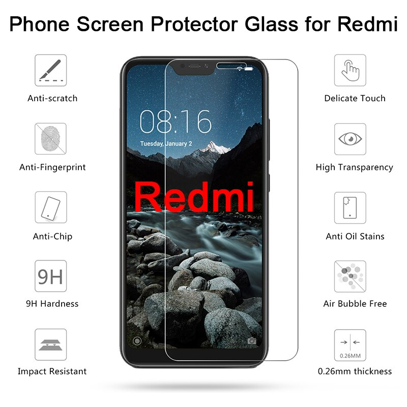 For Xiaomi Redmi K20 Pro Hard Glass for Xiaomi Redmi 7A 6A 5A 4A 4X Toughed Tempered Protective Glass For Redmi 6 Pro 6A 5 Plus