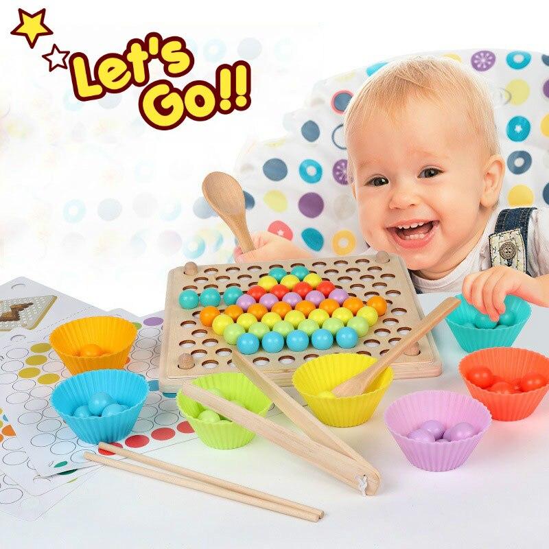 Новые деревянные детские игрушки Монтессори, детские игрушки с зажимом для тренировки мозга, детские развивающие игрушки для детей