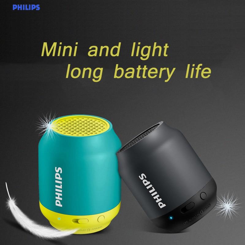 Philips-مكبر صوت بلوتوث BT25 ، مكبر صوت لاسلكي صغير محمول ، صوت ، ستيريو ، مضخم صوت ، معالج موسيقى ، أزرق سماوي ، أسود