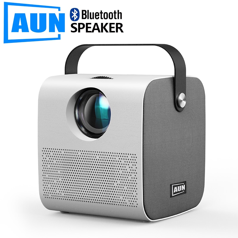 AUN MINI AKEY7 Young Projector, Native 1280*720P 2800 lumens, LED Proyector for Full HD 1080P, 3D Video Beamer Home Cinema.