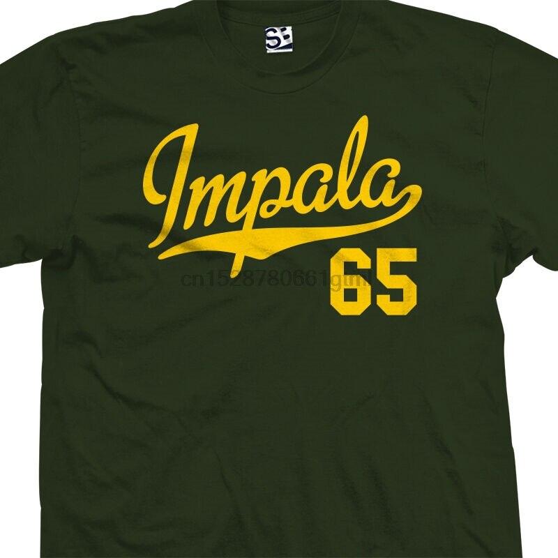 Impala 65 camiseta de cola de escritura-1965 Lowrider Camiseta clásica-todas las tallas colores