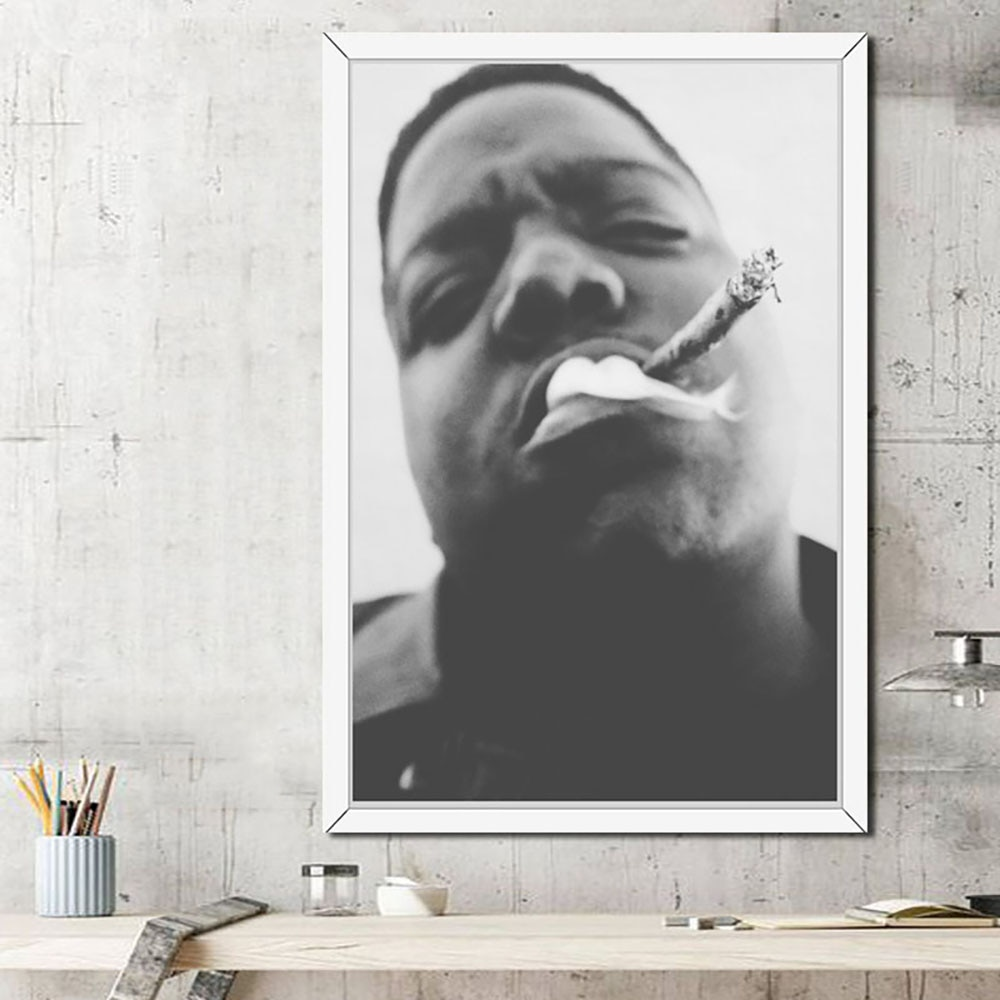 Grafika ścienna Home Decor płótno malarstwo Hip Hop Gangsta Rap dym papierosy nowoczesny obraz HD drukuj modułowy plakat dla chłopca pokój