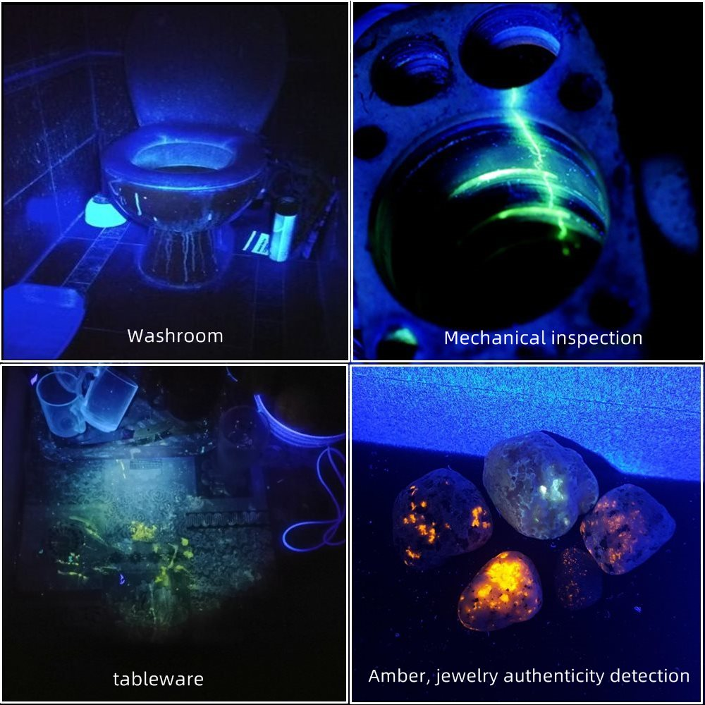 Alonefire H42 45W Ultraviolet UV Flashlights Detector for Pets Urine and Stains for Leak Detector Pet Stains Hunting Marker enlarge