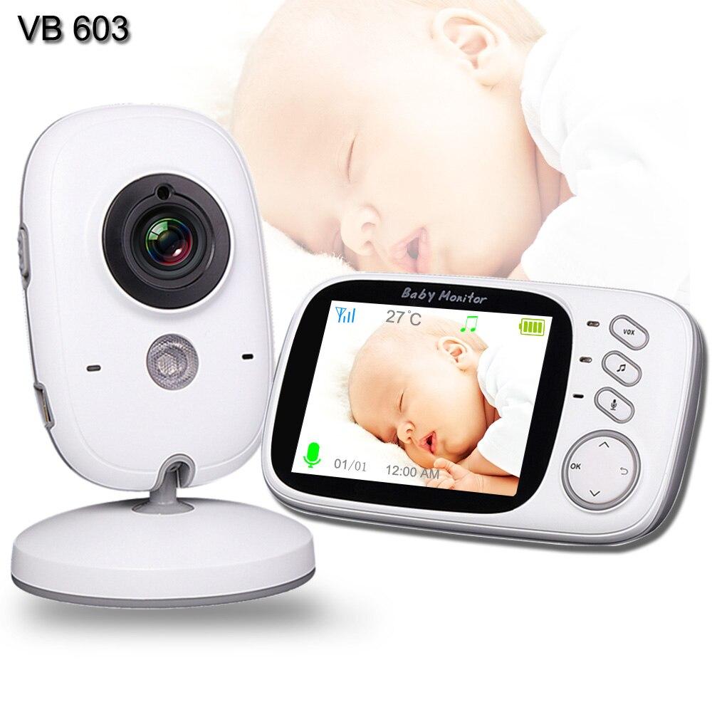 Monitor de bebé con cámara de WiFi bebé niñera cámara de vídeo de dos vías de Audio control de temperatura Monitor de dormir Bebé