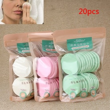 20 Pcs/Set Soft Face Cleaning Pad Puff Cleansing Sponge Natural Face Wash Puff Women Makeup Tools