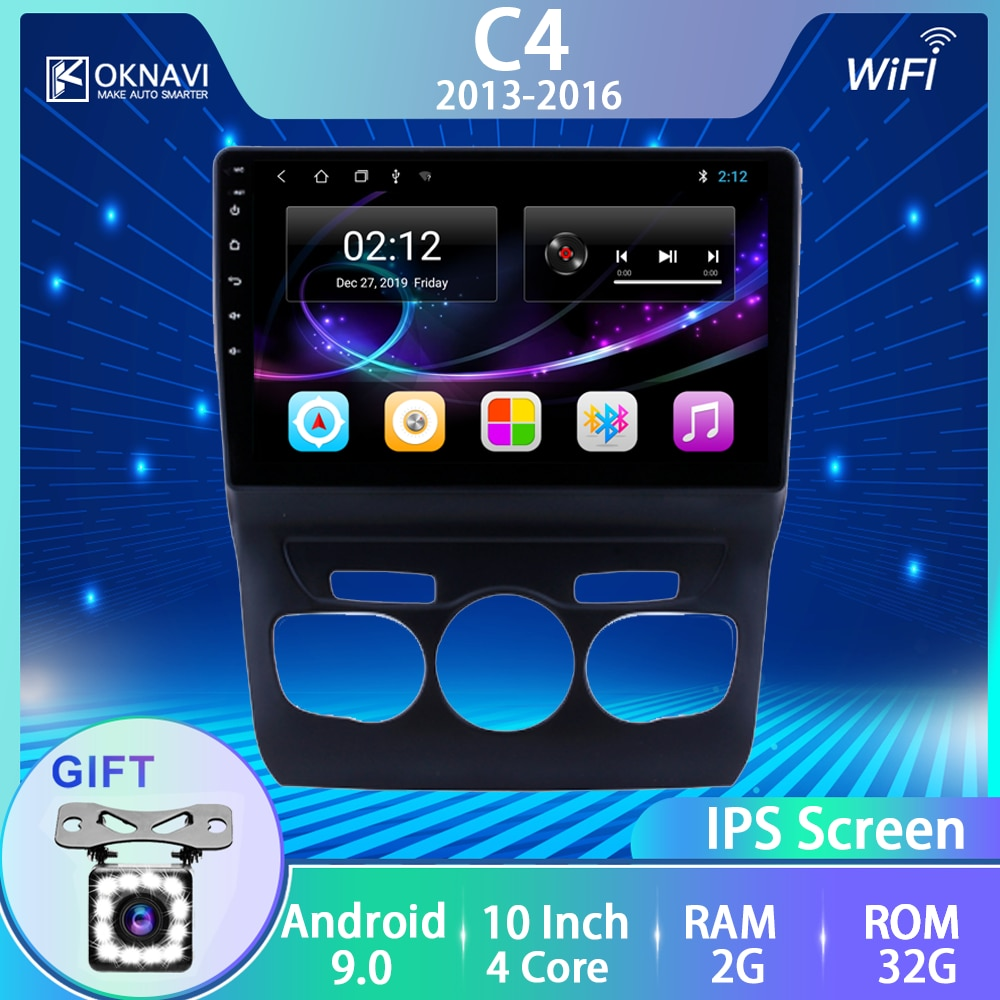 Para Citroen c-C4 2013, 2014, 2015, 2016 2 Din reproductor Multimedia Radio de coche de Audio Gps Android 9,0 WIFI Bluetooth Canbus Accesorios