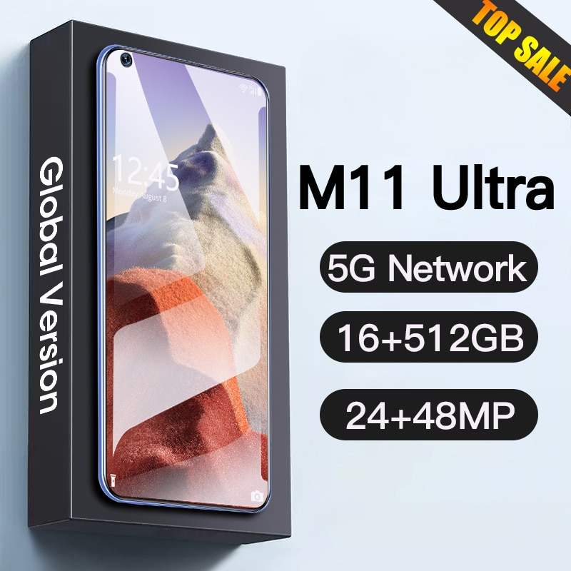 Global Version M11 Ultra 16GB+1TB Android Smartphone 5G Networks GPS 48MP+64MP HD Camera Mobile Phones Cellphones