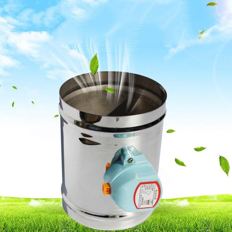 125 مللي متر الفولاذ المقاوم للصدأ صمام الهواء المثبط HVAC الكهربائية الهواء القناة بمحركات المثبط لمدة 5 بوصة أنابيب التهوية صمام 220 فولت