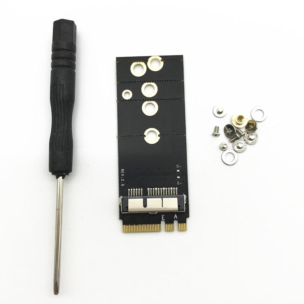 Broadcom bcm94360cs2/bcm943224pciebt2 12 + 6 pinos sem fio cartão para ngff (m.2) chave a/e adaptador para mac os hackintosh