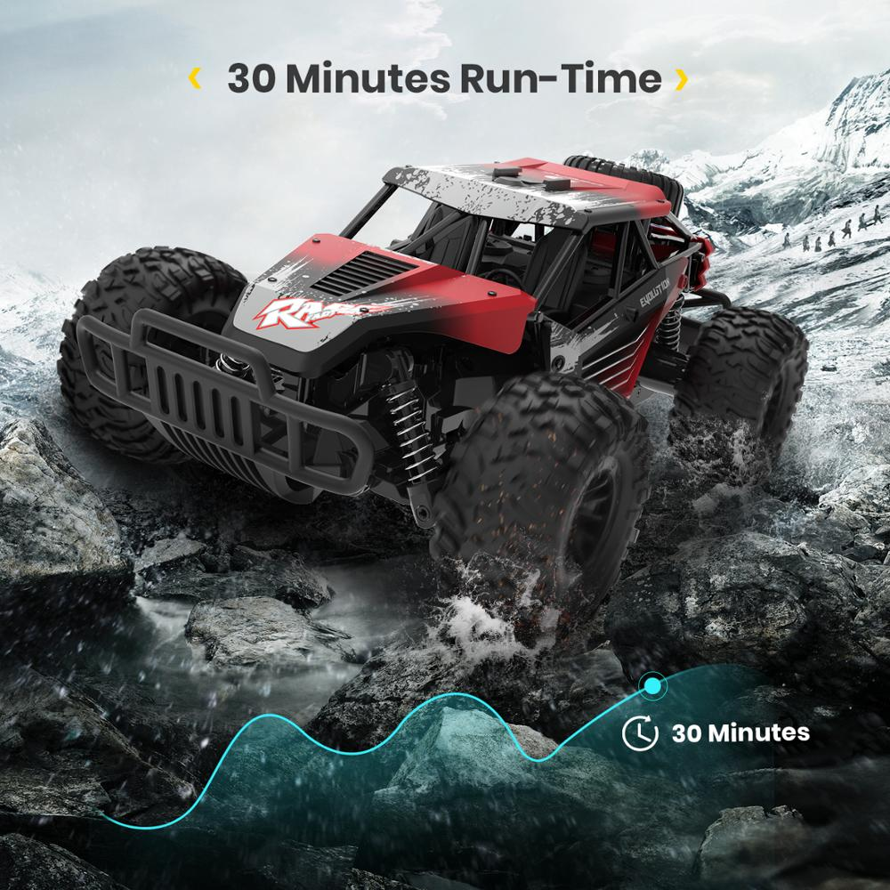 DEERC DE37 1:16 RC Car All Terrains Off Road Buggy Truck 30 Mins Play Time 20 KM/H High Speed RC Dift Car Toys For Children enlarge