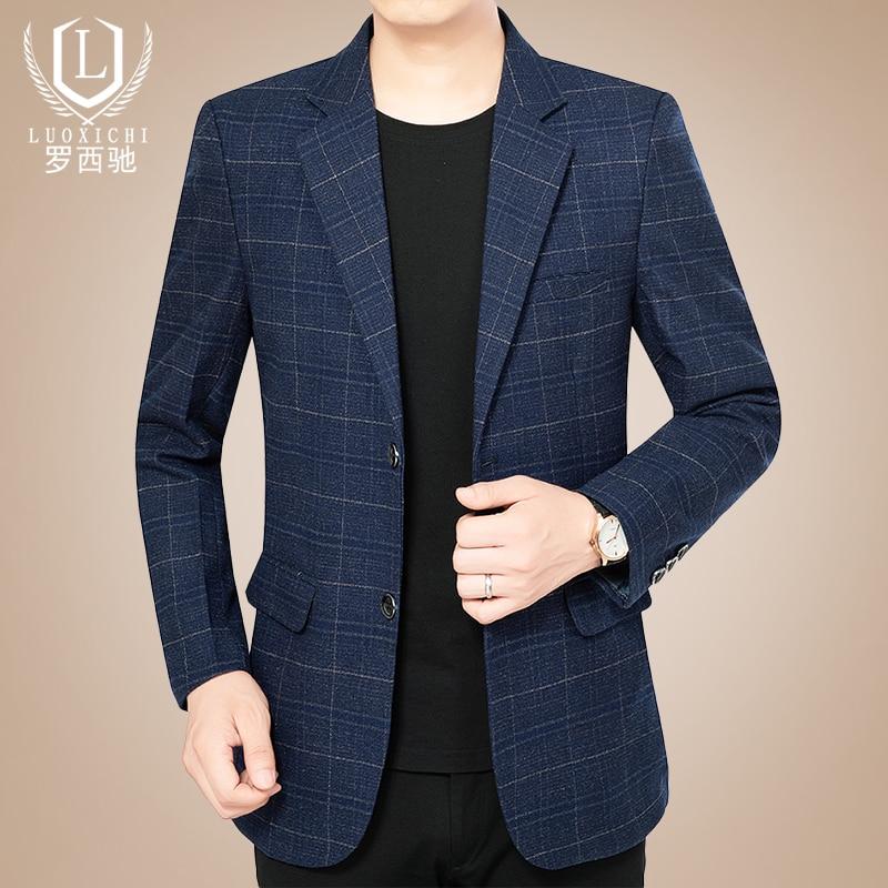 Royal Blue Suits for Men Wedding Plaid Blazer Men Formal Suits Fashion Business Casual Costume Homme Mariage Blazers BG50BS