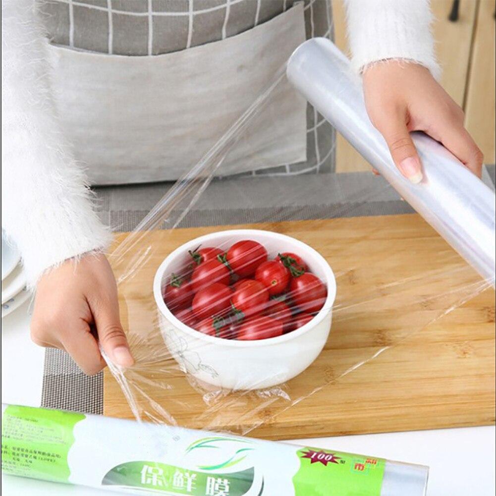 Film PE desechable transparente para guardar verduras, envoltorio adhesivo para Hotel, para el hogar, cafetería, cocina Saran, restaurante, mantener fresco