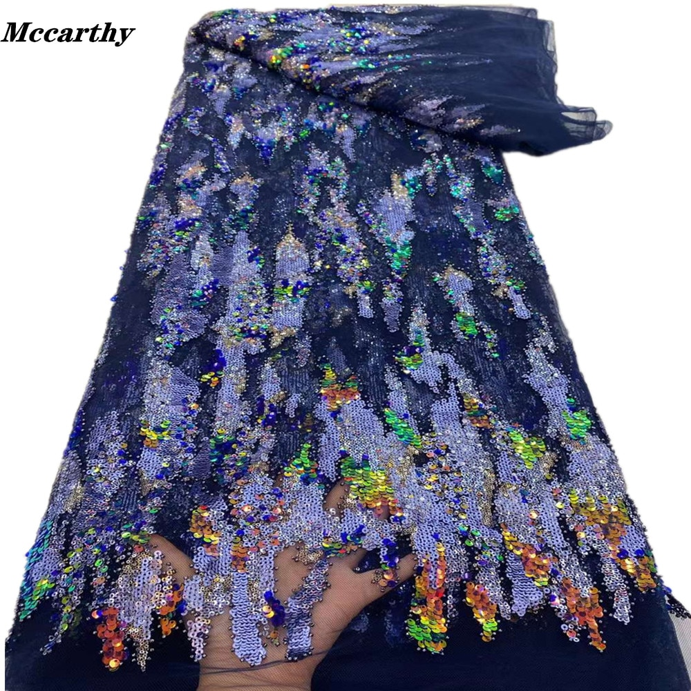 مكارثي النيجيري الأفريقي الفاخرة الترتر أقمشة الدانتيل 2021 شمسيّة دانتيل عالية الجودة المواد الفرنسية تول أقمشة الدانتيل لفستان الخياطة
