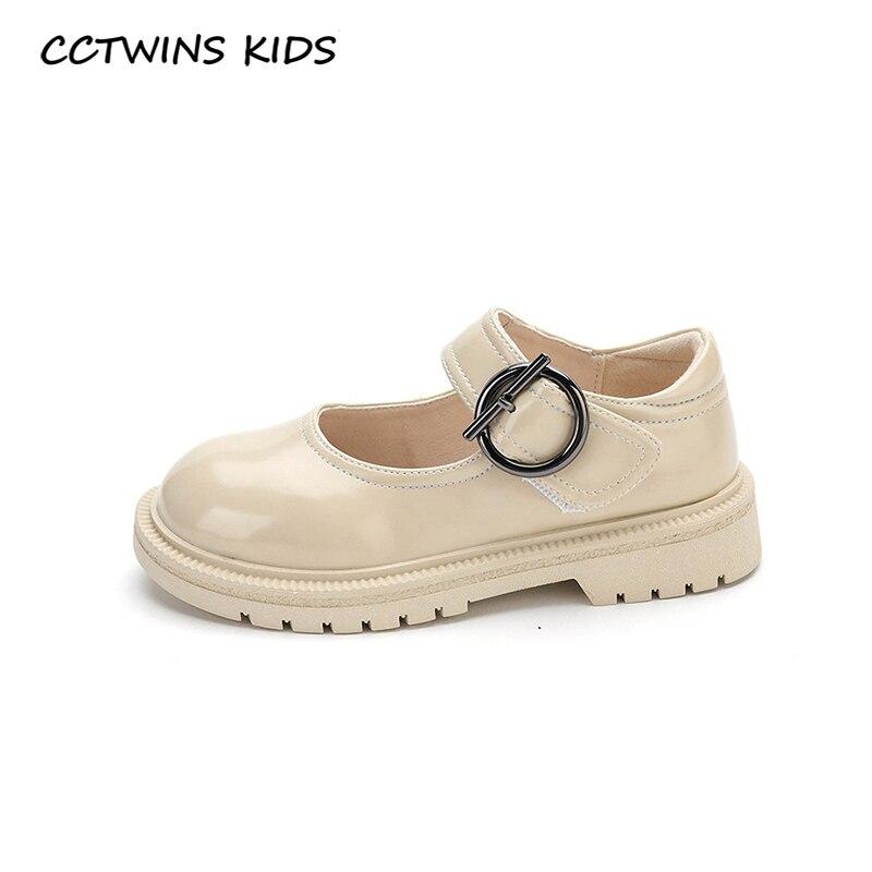 CCTWINS, zapatos para niños, moda de otoño 2020, zapatos de fiesta para niñas de Mary Jane, zapatos planos de princesa negra para niños pequeños GM2698