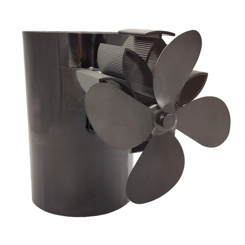 Mejora del ventilador de la estufa alimentado por calor diseñado funcionamiento silencioso 4 cuchillas con atracción magnética para la chimenea