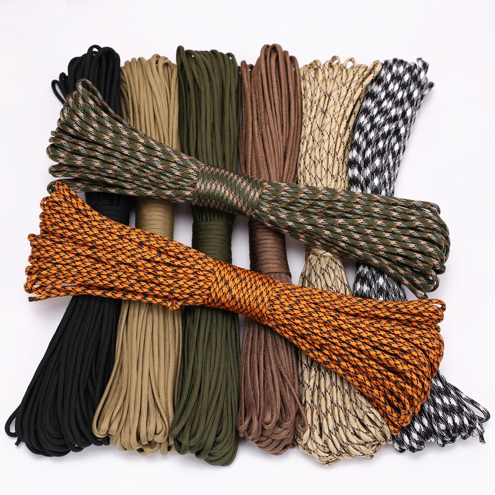 4 Size Dia.4mm 9 stand Cores Paracord for Survival Parachute Cord Lanyard Camping Climbing Camping Rope Hiking Clothesline 5 meters dia 4mm 7 stand cores paracord for survival parachute cord lanyard camping climbing camping rope hiking clothesline