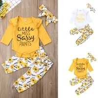 3pcs autumn clothes toddler baby girl clothes tops romperpants trousersheadband casual outfits set clothes 0 24 months