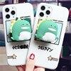 Funda de teléfono de lujo de silicona con dibujo de dinosaurio gato pata para iphone 11 Pro X XR XS Max 7 8 6 6S Plus SE 2 5 funda de regalo