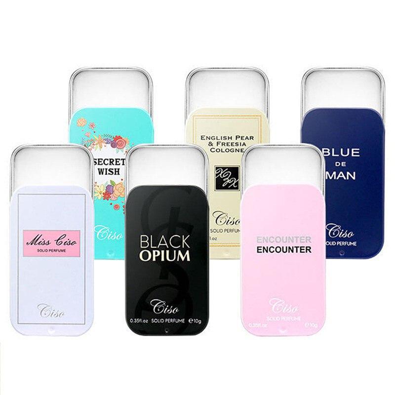 Bálsamo sólido para hombres y mujeres Estuche portátil fragancias de feromonas sólidas suave desodorante de larga duración fragancia corporal antitranspirante