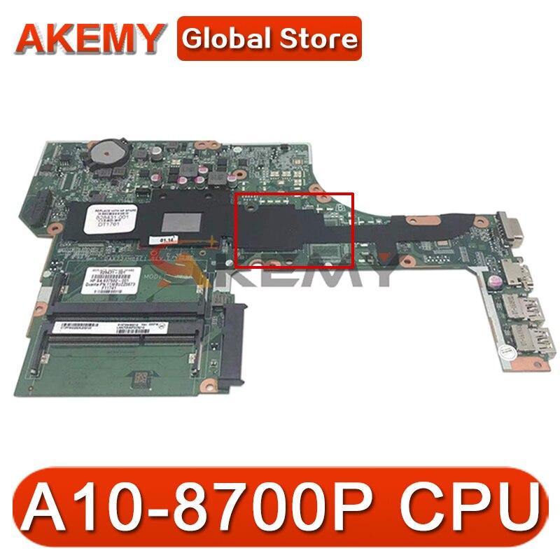 لوحة أم للكمبيوتر المحمول HP probook 455 G3 عالية الجودة مع وحدة المعالجة المركزية A10-8700P 828431-601 DAX73AMB6E1 MB 100% اختبار سريع السفينة