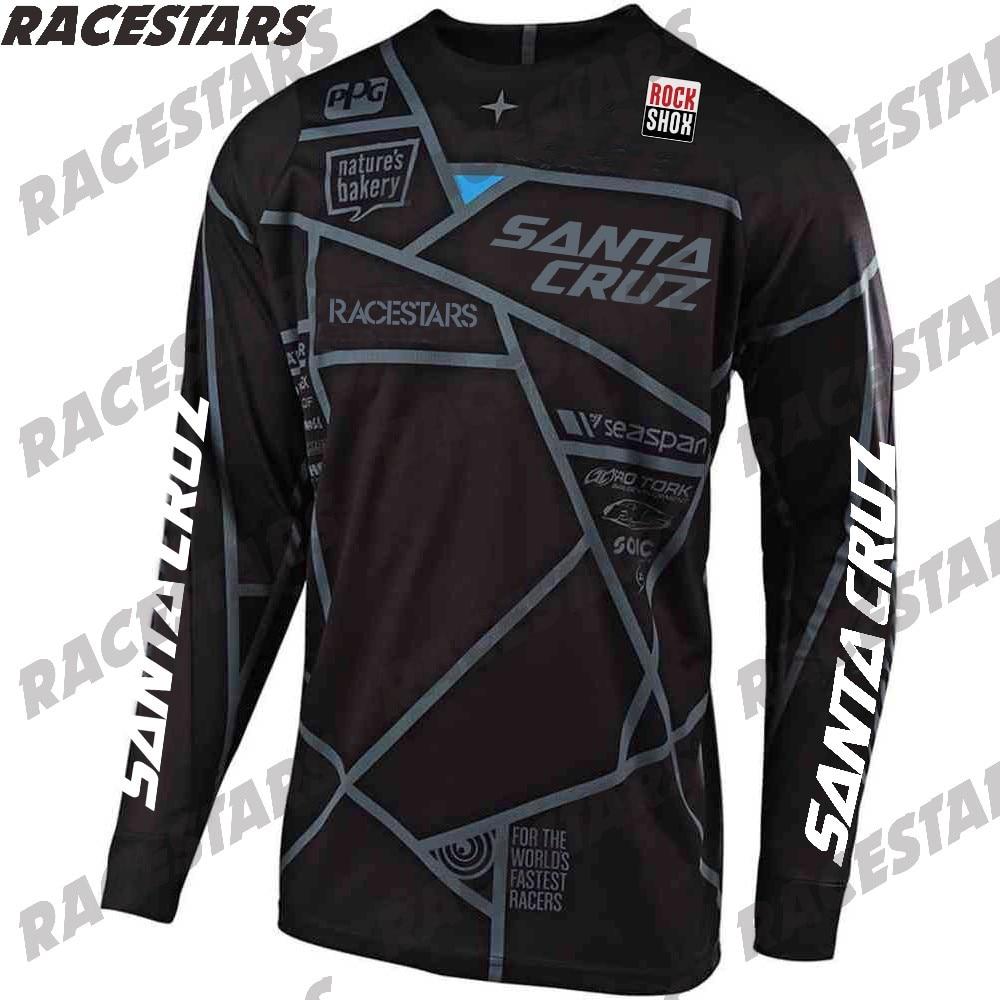Santa Cruz cuesta abajo Camisetas Camiseta de Motocross Cruz país MTB de...