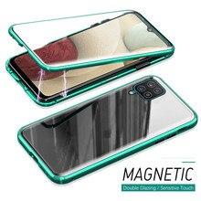 Для Samsung A12 Магнитный король двухсторонний чехол для Galaxy A52 A72 A32 5G A11 A21s A51 A41 A31 A71 A10s A30s стекло металлический корпус