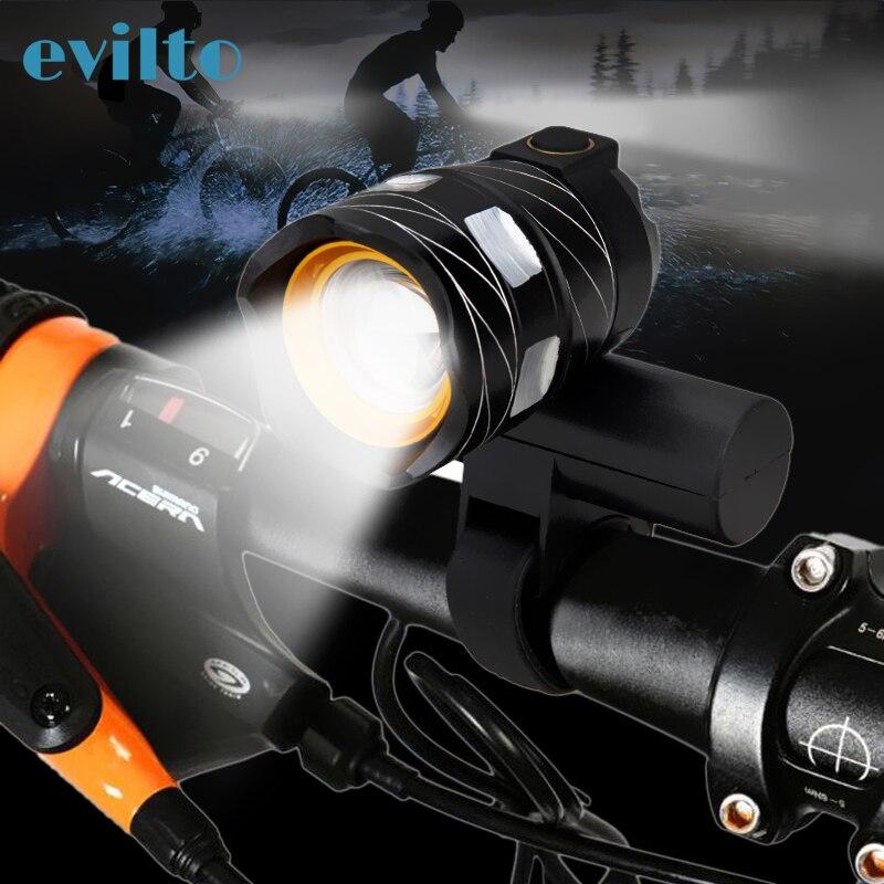 T6 15000LM Led Luz de bicicleta USB recargable lámpara Zoomable faro delantero de bici lámpara ajustable Luz de bicicleta