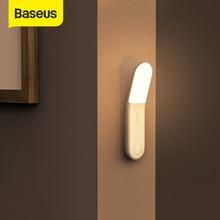 Baseus Automatische Induktion Treppen LED Licht PIR Motion Sensor Nacht Lichter Wiederaufladbare LED Wand Lampe für Schlafzimmer Nacht Küche