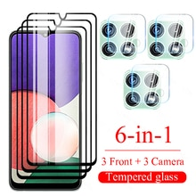 6in1 Tempered Glass for Samsung Galaxy A22 5g Screen Protector for Samsung Galaxy A 22 22a 5g Camera