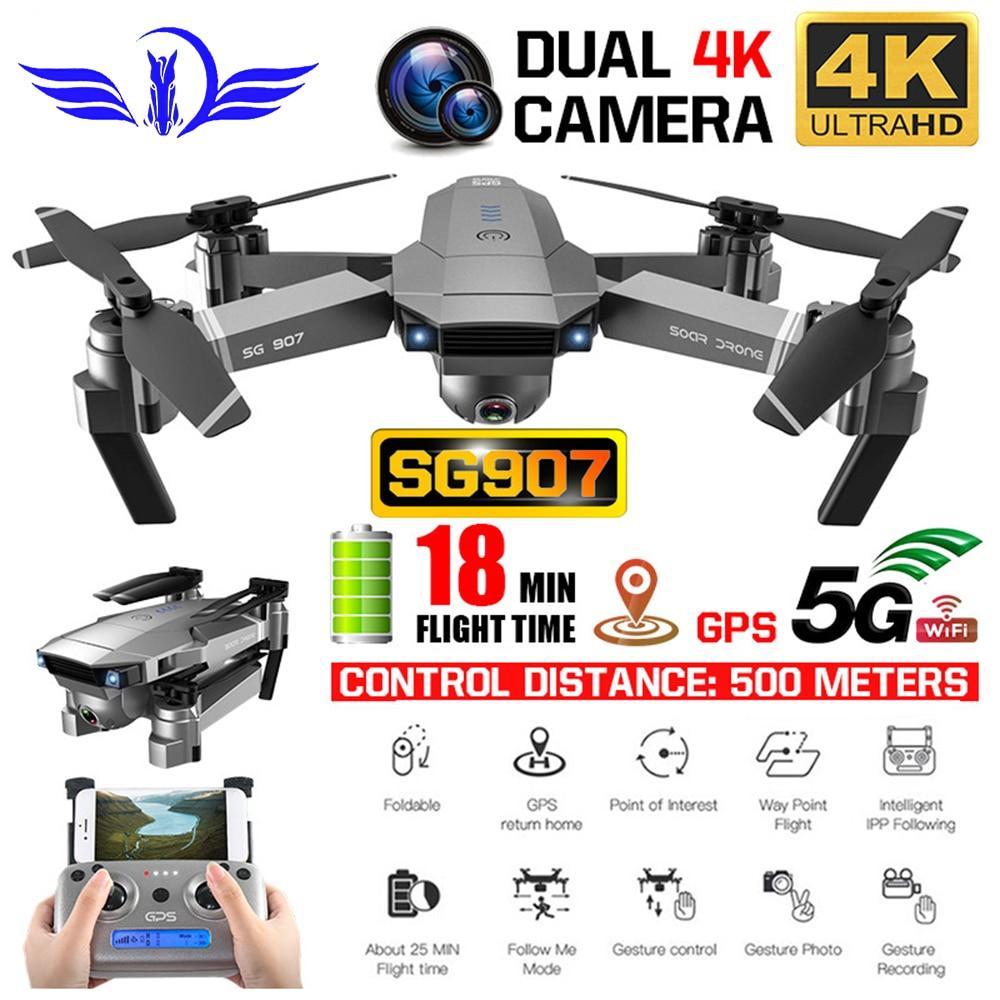 FEMA SG907 Drone GPS Quadcopter mit HD Dual Kamera 4K/1080P 5G Wifi FPV auto rückkehr folgen weitwinkel Professionelle RC Eders
