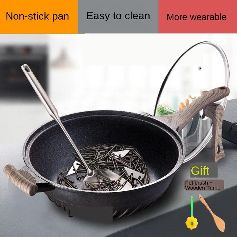 Anti pá maifanshi wok não-vara panelas sem lampblack multi funcional frigideira panelas e panelas panela de cozinha panela wok