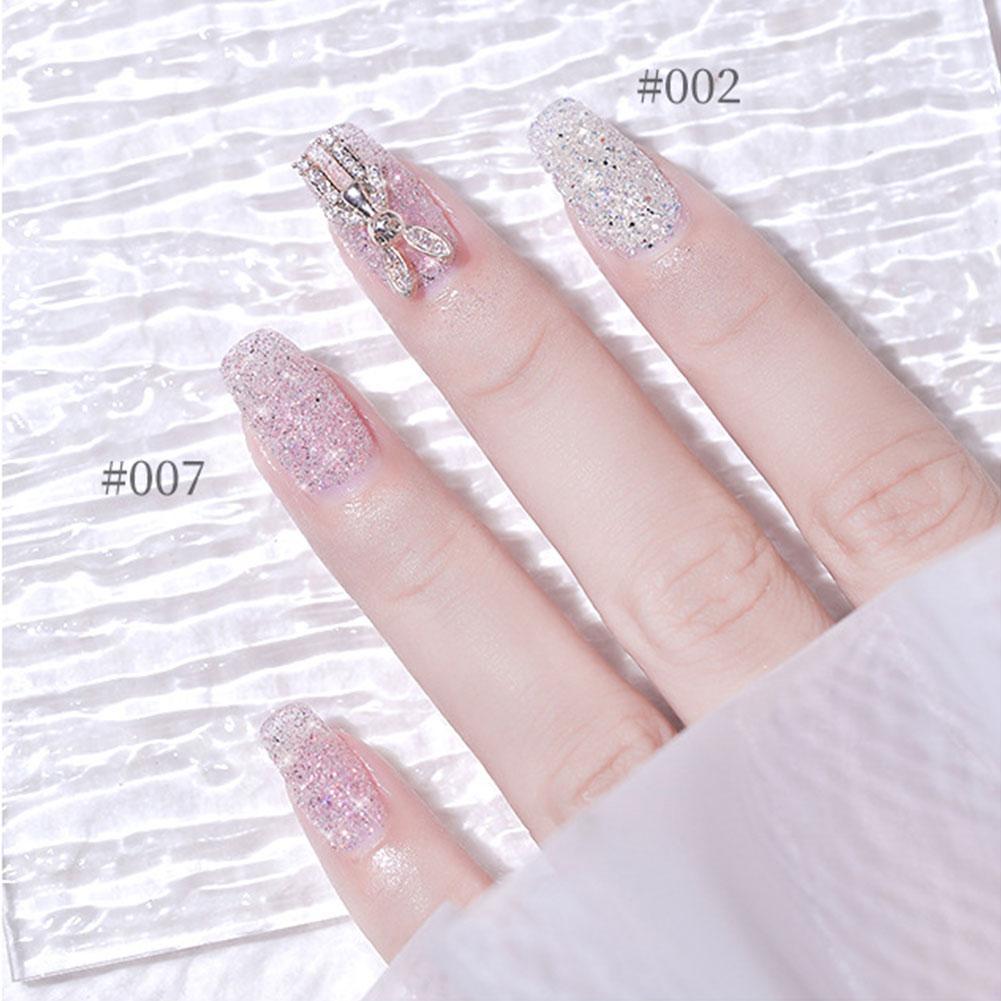 8 colors Nail Crystal Diamond Powder Glitter Shiny Pigment Holographic Glass Micro Drill Nails Art Decoration
