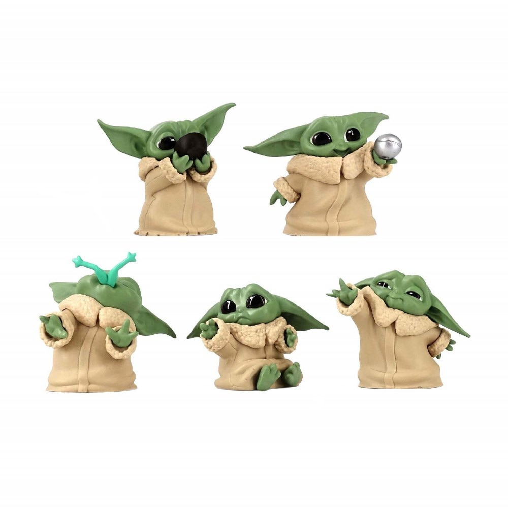 Anime Figures Star Wars Master Yoda 5pcs/set Grand Master of Jedi Order Action Figma Model Toys Cute Toys Doll Juguetes Figurals