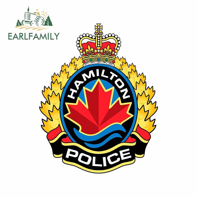 EARLFAMILY – autocollants fins pour fenêtre de Police, 13cm x 10.3cm, pour voiture, étanche, anti-rayures, pour JDM SUV RV