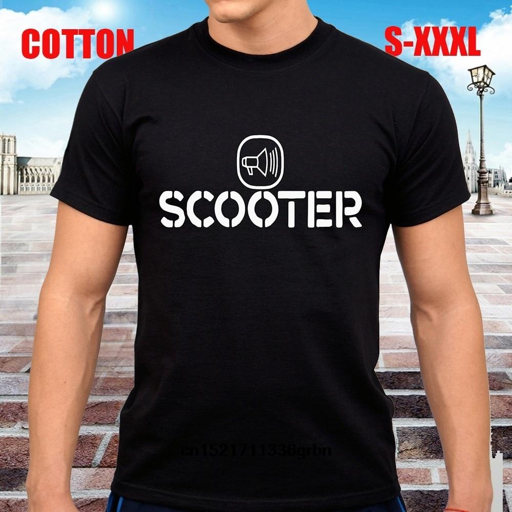 Hombres camiseta Scooter Techno Dance Hardcore Band camiseta negra camiseta Mujer
