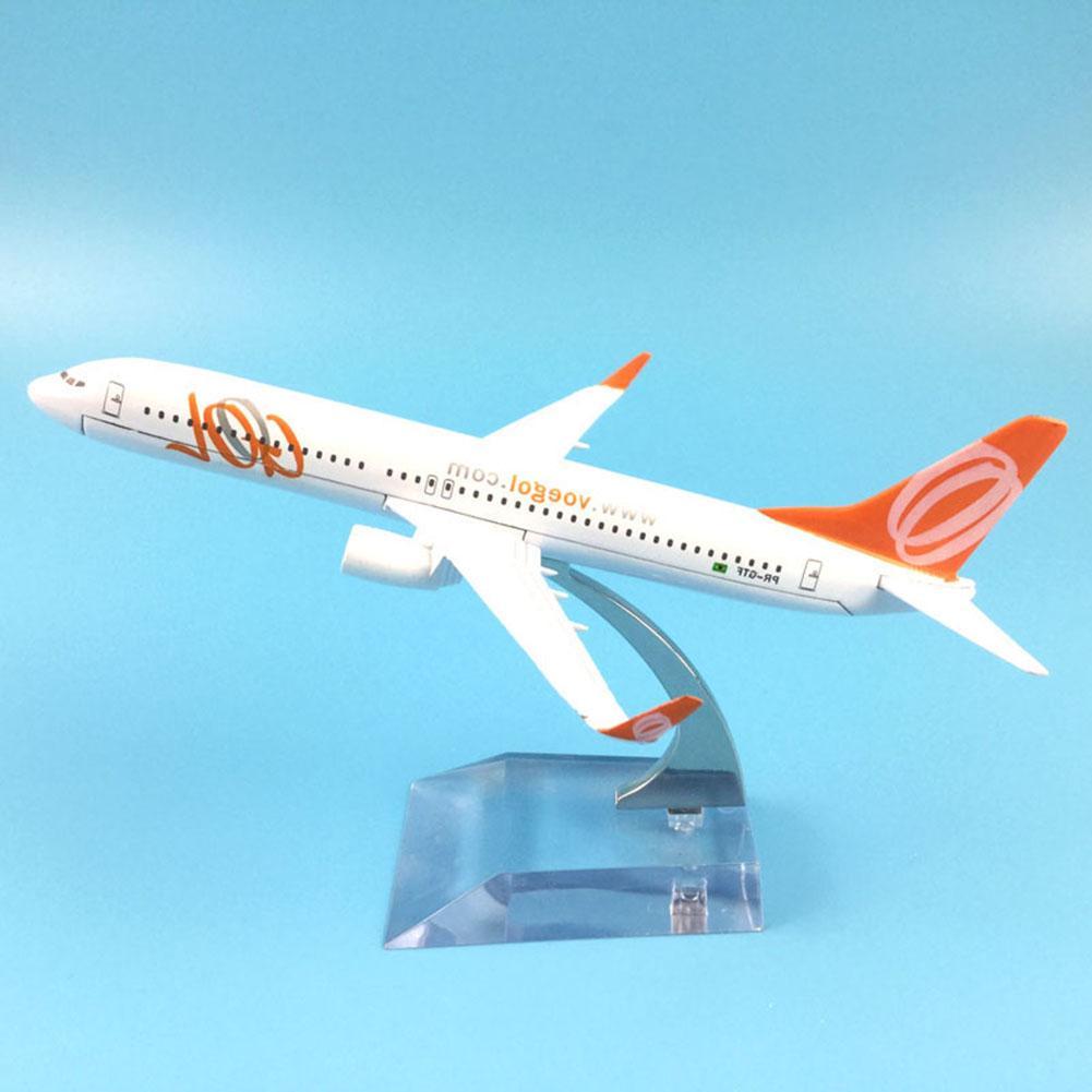 Brasil Air GOL aerolíneas Boeing B737-800 colección de aviones modelo 16CM Avión de Metal modelo de avión Kit de construcción de juguete