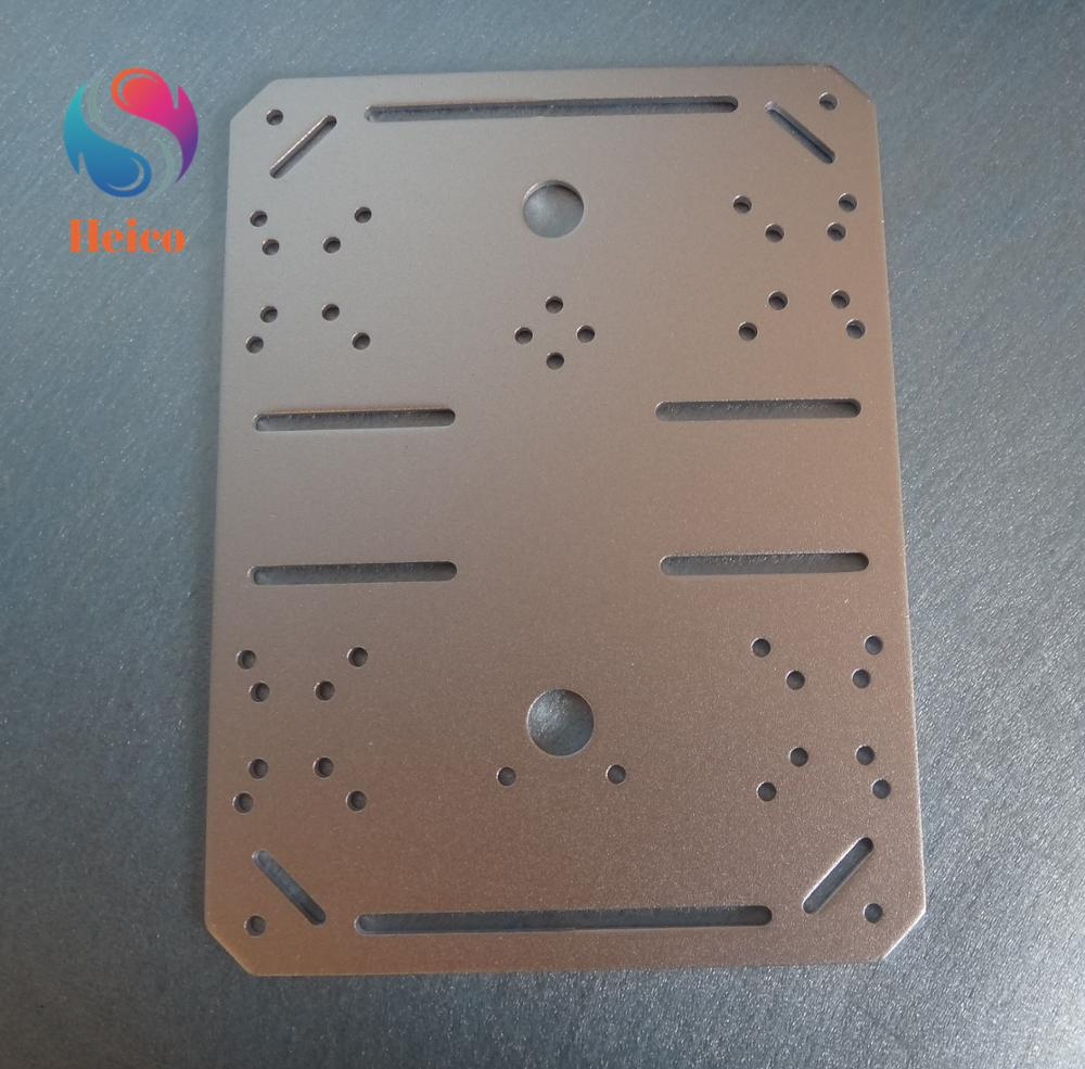 Aluminum Alloy 200x150mm Motor Bracket Robotic Model Car Parts Mounting Plate Frame For Smart Robot Car Chassis