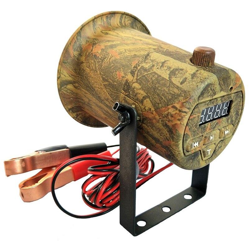 Caza aves llamador MP3 jugador pájaro sonido llamador 50W altavoz 150DB pájaro amplificador altavoz caza señuelo camuflaje