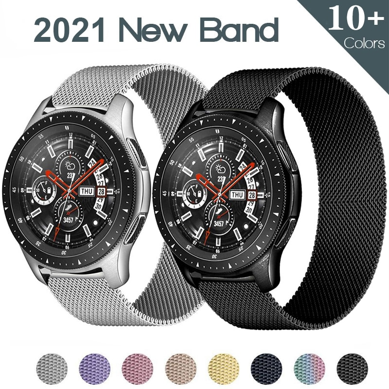Milanese loop strap For Samsung Galaxy watch 3 46mm 45mm Active 2 42mm 41mm Gear S3 Frontier 20mm 22mm bracelet Huawei GT 2 band