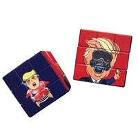 third order trump magic cube facial expression idiot spokesperson spoof trump novelty puzzle decompression toys for gift