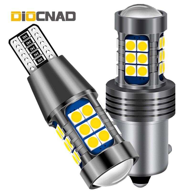 1x Canbus coche luz LED de respaldo W16W T15 P21W BA15S W21W bombilla para smart fortwo 451 450 skoda octavia a7 a5 fabia 2 rápida kodiaq