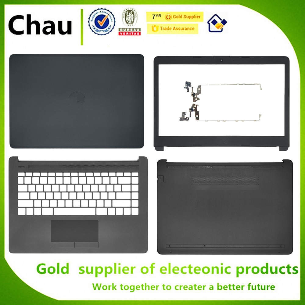ل HP بافيليون 14-CM 14-CK 14-DG 240 245 246 G7 LCD الغطاء الخلفي/الحافة الأمامية/العلبة العلوية Palmrest الغلاف/الحقيبة السفلية/المفصلات
