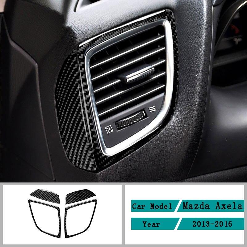 Автомобильные аксессуары из углеродного волокна, предупреждающий свет, модификация, накладка из углеродного волокна, наклейки для Mazda Axela ...