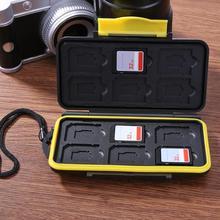 Multi-grille étanche stockage économie carte de dépôt boîte cartes mémoire boîtier carte de dépôt support de la boîte pour SD/ SDHC/ SDXC/TF cartes