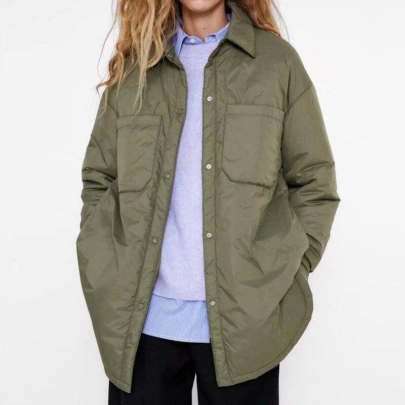 Winter Women Jacket Casual Loose Thin Parkas Coat Ladies Elegant Loose Warm Outerwear Vintage Long S